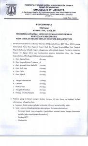 Pengumuman Penerimaan Pegawai Guru Dan Tenaga Kependidikan Non Pegawai Negeri Sipil Pada Sekolah Negeri Dengan Kontrak Kerja Individu Di Sman 111 Jakarta Sma N 111 Jakarta